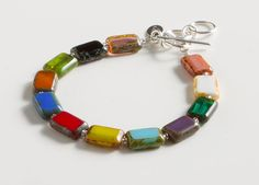 Rainbow Glass Bracelet, Bracelets, Jewelry, Home - The Museum Shop of The Art Institute of Chicago
