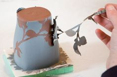 paper resist with underglaze stenciling Ramsay Ceramics Process. Take a ceramics workshop offered by CMA ...