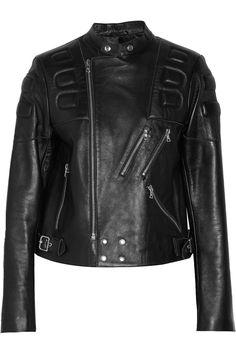 SandroViki leather biker jacket