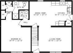 small house plans 24 x 36. 36 x 24 floor plans  Alpine Homes 26 Modular Home Plans X House alpine three bedroom home click here