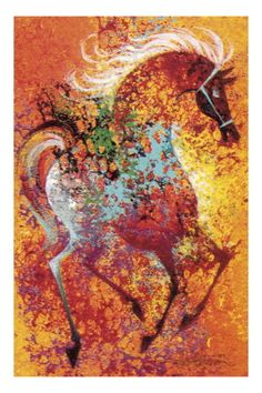 Colorful Horse by Pop Ink - CSA Images. Print from Art.com, $29.99