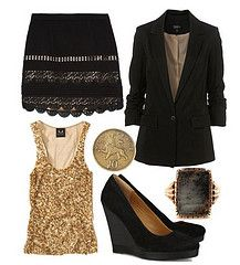 gold and black. perfect.