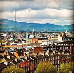 """""""Just eight miles from Dublin's urban centre, the Dublin Mountains are the city's natural playground. Visit Dublin, Love Ireland, Natural Playground, Paris Skyline, Dublin City, Urban, Mountains, Stretching, Places"""