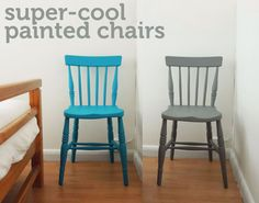 I have couple of old wooden chairs kicking about which I thought would look amazing if they were given a bit of TLC, so I decided to paint them in some new, fresh colours. Here's how:  You wi...