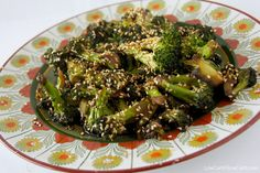 Sesame broccoli. Only 4 ingredients, and way tastier than steamed. http://lowcarbslowcarb.com/recipes/sesame-broccoli/