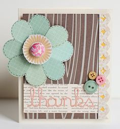bright floral and woodgrain card. soo cute.