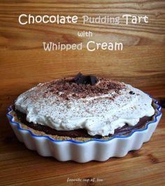 my cup of tea: Chocolate Pudding Tart with Whipped Cream (Tarta z Budyniem Czekoladowym i Bitą Śmietaną)