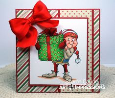 Hello AI Fans!! I just love this adorable Elf Shaker from Art Impressions ! And as you can see, just because he is a shaker, doesn't m...