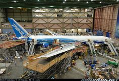 Boeing 787-8 Dreamliner  at Boeing factory
