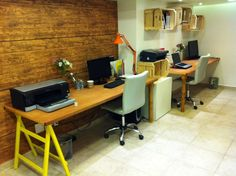 Chale Nosso Sitio: Monte um home office feito de pallets