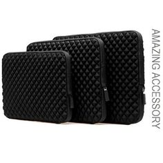 Amazing Accessory (TM) Durable Diamond Shock-Resistant Laptop Sleeve (BLACK) for HP Pavilion x360 13-a010nr 13.3-Inch 2 in 1 Convertible Touchscreen Laptop - Stand out from the crowd with this unique diamond design. Luxuriate your laptop with our stunning new durable neoprene case. An instant classic that you can protect your laptop and look good doing it with this case. Get it today, this must have item provides easy mobility, consistent protection,... - http://ehowsuperstor