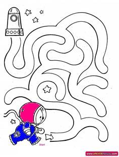 outer space worksheets for kids maze Space Theme Preschool, Space Activities, Craft Activities For Kids, Kids Crafts, Mazes For Kids, Worksheets For Kids, Space Coloring Pages, Kids Coloring, Maze Worksheet