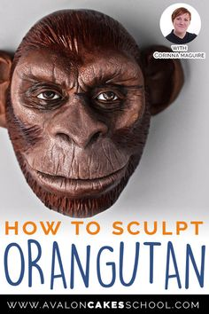 WOW, this is modeling chocolate?!? Corinna Maguire shows how to make this Orangutan monkey face from start to finish... watch the replay now only on Avalon Cakes!