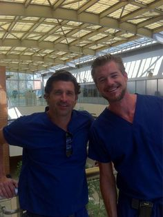 Grey's Anatomy backstage (Patrick Dempsey and Eric Dane)