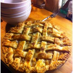 Daughter's yum-o peach pie for Father's Day dessert! 6/17/12