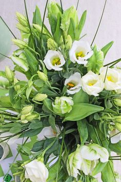 A Bunch for the Weekend-# Tulips, Lisianthus and Bear Grass-Ingrid Henningsson-Of Spring and Summer Parrot Tulips, Floral Photography, Seasonal Flowers, Flower Arrangements, Grass, Bear, Seasons, Spring, Simple