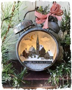 holiday snowglobe clock…