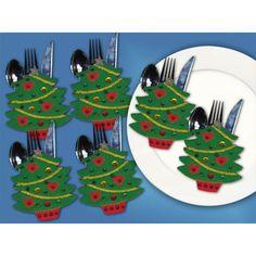 Набор украшение из фетра для столовых приборов Елочки 5372