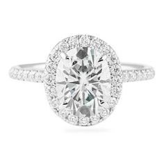 LEPOZZI 1.80 CT OVAL CUT WHITE GOLD ENGAGEMENT RING