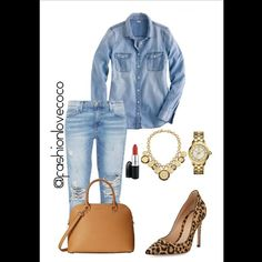 Denim + Leopard Print   #fashionlovecoco #ootd #outfitoftheday #lookoftheday #TagsForLikes #fashion #fashiongram #style #love #beautiful #currentlywearing #lookbook #wiwt #whatiwore #whatiworetoday #ootdshare #outfit #clothes #wiw #mylook #fashionista #todayimwearing #instastyle #polyvore #instafashion #outfitpost #fashionpost #todaysoutfit #fashiondiaries