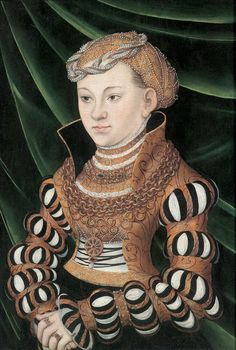 The Athenaeum - Portrait of Princess Maria of Saxony (Lucas Cranach the Elder - )