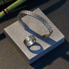 Men Ring Size 7 & Bangle Jewelry Set 316 Titanium Steel Cable Mesh Collar Masculine Bracelet Bangle Jewelry Open Bangles www.bernysjewels.com #bernysjewels #jewels #jewelry #nice #bags