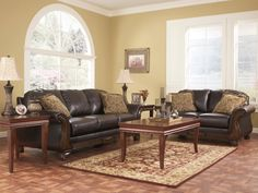 Riverton Java Sofa & Loveseat #sofa #loveseat #livingroom #rana #ranafurniture #furniture #miami