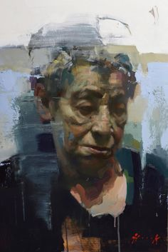 """""""Marina Hook (grandmother) New painting for the book 'portrait in a day.'To be released soon Painting People, Drawing People, Figure Painting, Painting & Drawing, Painting Abstract, Acrylic Paintings, Abstract Landscape, Abstract Portrait, Portrait Art"""