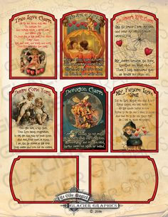 Valentine Witch Spell Cards Valentine Love by WAGlacierGraphics