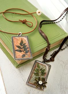 Press your leaves before it's too late.  My project/free instructions from the book Mod Podge Rocks!