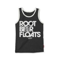 Prefresh Root Beer Floats Tank Top- Graphite