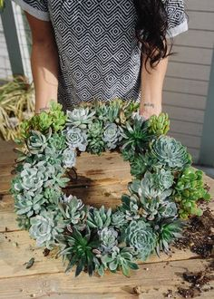 Uncovet presents a DIY tutorial on how to make your very own succulent show stopper, and just in time for the holidays! #wreath #DYI