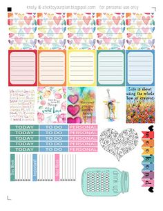 Free Printable Stick to your plan: Love a Rainbow