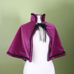 Anna Fairytale Inspired Capelet velvet cape by lorigami on Etsy