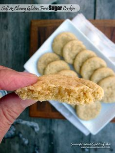 Soft & Chewy Gluten Free Sugar Cookies ~ each one is like a little pillow of sugar ~ from Sumptuous Spoonfuls