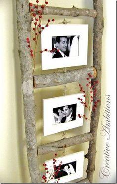 <3 dead birch to ladder with kids wedding pics