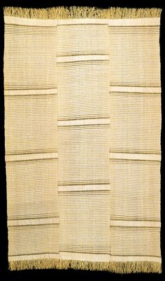 Africa | Wrapper made from Raffia from either Togo or Benin.  ca 1900 | © Museum der Kulturen, Basel