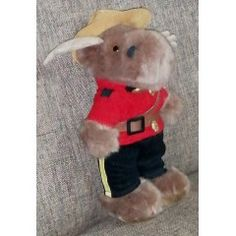 Vintage Toys - Vintage R. P / Royal Canadian Mounted Police Moose Mascot. for sale in Vereeniging Vintage Toys, Moose, Police, Teddy Bear, Animals, Old Fashioned Toys, Animales, Animaux, Mousse