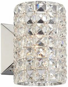 Crystal Cylinder Halogen Vienna Full Spectrum Wall Sconce - @EuroStyleLighting