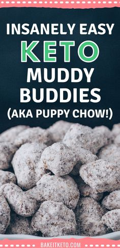 Low carb muddy buddies (aka puppy chow) - the BEST easy, no bake keto treat for Christmas and the holidays. Sugar free and gluten free too!