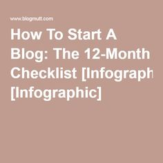 How To Start A Blog: The 12-Month Checklist [Infographic]