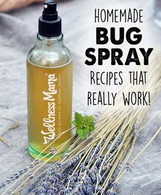 Homemade bug spray recipes using herbs & natural ingredients like witch hazel & apple cider vinegar to make simple and effective bug sprays.