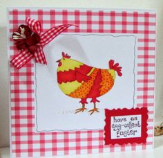 The Sparkly Fairy: Easter Chicken Card. Using digital stamps from Handmade Harbour
