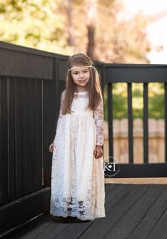 Chiffon Long Sleeve Flower Girls&-39- Dresses For little Baby Girls ...