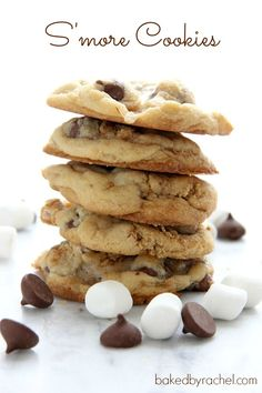 Perfect S'more Cookies - These tasted great, but looked nothing like the picture - too much of a hassle to get the marshmallows completely covered so some got a little crispy.