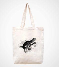 animalhandmade bag/canvas bag/tote bag/canvas tote by canvasanni, $11.90