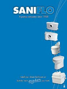 Saniflo Saniplus Vs Sanibest Comparison Brochure 2 Tiny House Bathrooms Pinterest