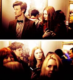 Looking at the other person when they're not looking. And Matt and Karen wonder why the internet thinks they're secretly married. #DoctorWho