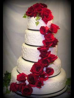 Red Wedding, Wedding Day, Beautiful Wedding Cakes, Cake Recipes, Weddings, Desserts, Ideas, Cakes, Tortilla Pie