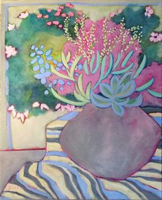 Contemporary, colorful still life, abstract, landscape & floral paintings by Annie O'Brien Gonzales